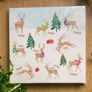 Sheffield Hospitals Charity Christmas Card - Santa's reindeers