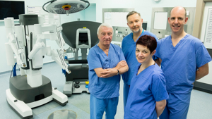 Patients benefit from surgical robot, thanks to £1.3m donation